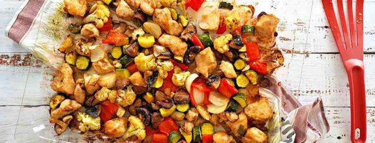 Ras-el-hanout chicken traybake